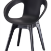 Modern Polypropyleen Open Side Dining Chair