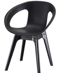 Modern Polypropyleen Open Side Dining Chair