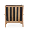 Eva Back Details Club Chair Modern Teak Contract Pool Furniture