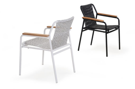 Flyn Arm Dining Chair Contemporary Rope Patio Furniture Hotels Hospitality Outdoor