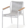 Flyn Stackable Rope Dining Chair Hospitality Contract White and Grey