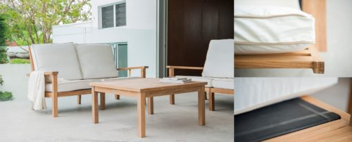 Hampton Coffee Table Traditional Teak Patio Hotel Terrace Furniture