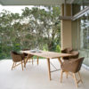 Kaylin Dining Table Modern Teak Restaurant Outdoor Contract 1