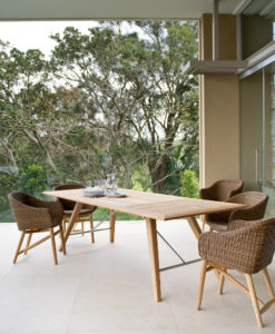 Kaylin Dining Table Modern Teak Restaurant Outdoor Contract