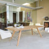 Kaylin Dining Table Stellar Modern Teak Restaurant Outdoor Contract