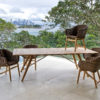 Kaylin Dining Table Modern Teak Restaurant Outdoor Contract 4