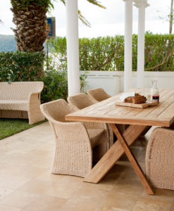 Nixon Dining Table Stellar Traditional Teak Outdoor Furniture Restaurants w Elana Chair