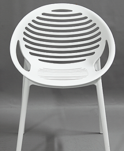 Contemporary Black White Grey Plastic Stackable Dining Chair