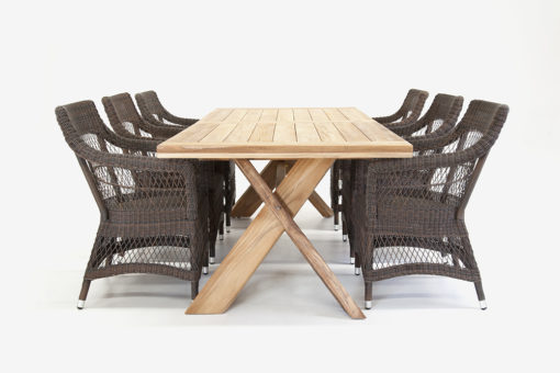 Malibu Dining Chair with Knox Table Traditional Patio Restaurant Furniture Contract