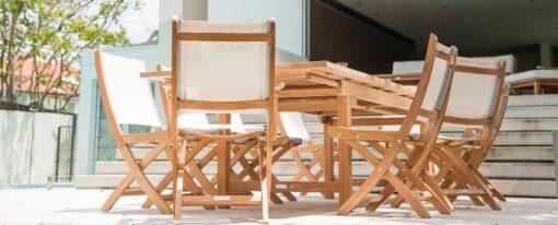 Mendes Dining Chair Traditional Batyline Teak Patio Restaurants Outdoor Furniture