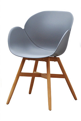 Amelia Dining Chair Modern Restaurant Hospitality Teak Patio Furniture