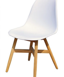 Modern Teak Polypropyleen White Black Grey Dining Chair