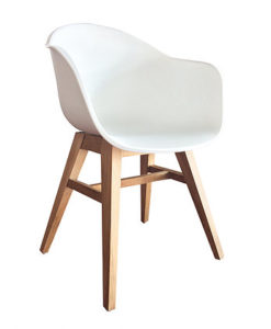 Modern Teak Polypropyleen Chair W Arms