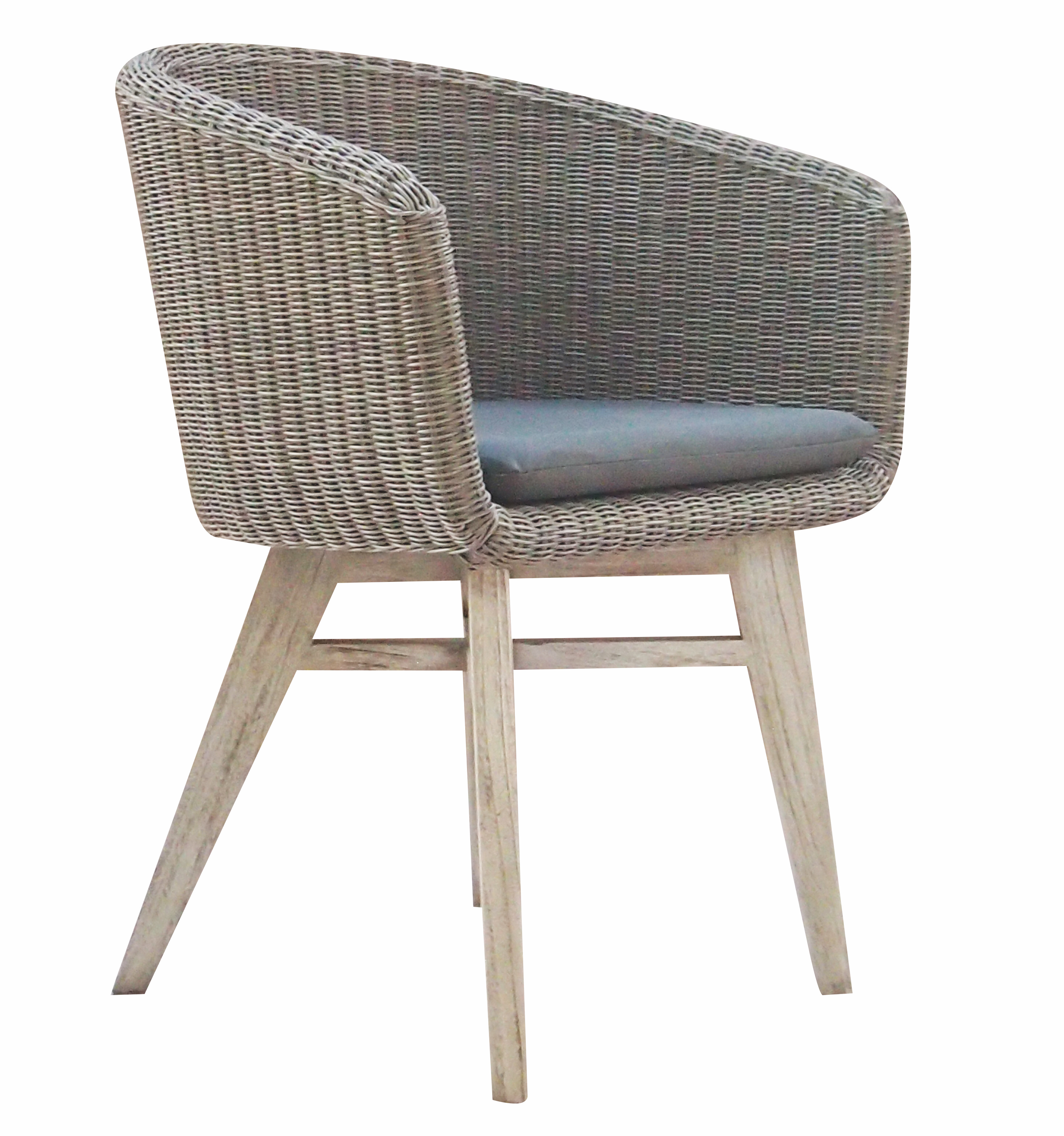 Modern Wicker Teak Dining Chairs Contract Hotels