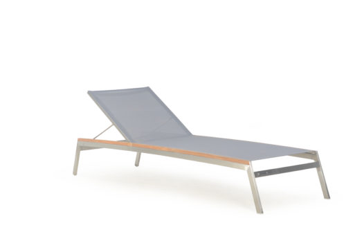 Patt Chaise Lounger Batyline Stainless Steel Chaise Lounger Luxury Contract Outdoor Furniture