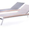 Patt Chaise Lounger Stainless Steel Chaise Lounger Luxury Contract Outdoor Furniture
