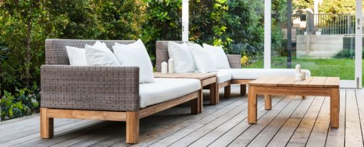 Peter Sectional Sofa Traditional Wicker:Teak Pool Patio Furniture Hospitality Florida