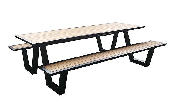 Astonishing Modern Aluminum Teak Picnic Table Highend Strong Luxury Customarchery Wood Chair Design Ideas Customarcherynet