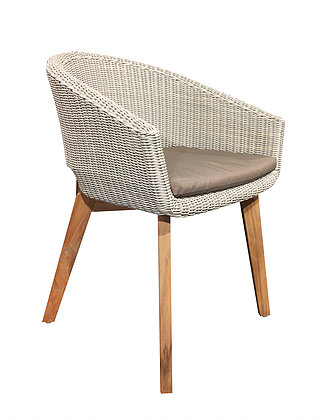 Rhronda Dining Chair Traditional Wicker Luxury Hospitality Restaurant Furniture