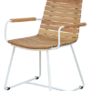 Contemporary Stainless Steel Teak Dining Chair