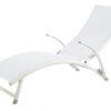 Modern White Textile Aluminum Sun Chaise Lounger