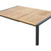 Modern Aluminum Teak Extendable Dining Table