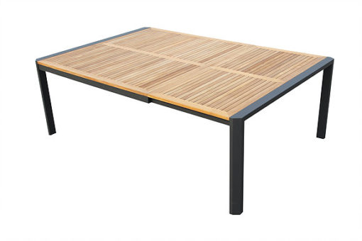 Carlos Extendable Dining Table Luxury Teak Restaurant Hospitality Modern Outdoor Furniture