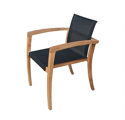 Elgar Dining Chair Teak Batyline Outdoor Restaurant Contract Furniture
