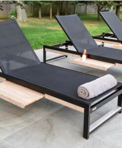 teak aluminum black white ferrari batyline pull out tray hotel hospitality residential luxury design no cushion