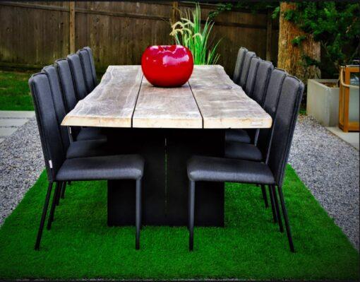 teak live edge plank table large custom