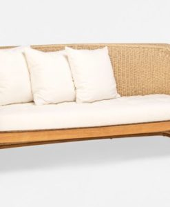 Elana Teak 2 Seater Sofa Wicker Teak Traditional Contract Outdoor Furniture All Weather
