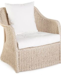 Modern Hand Woven Aluminum Teak Wicker Chair
