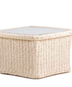 Elana Wicker Coffee Table Traditional Pool and Patio Furniture Hospitality Outdoor Caribbean Design