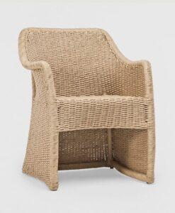 Modern Hand Woven Aluminum Wicker Dining Chair