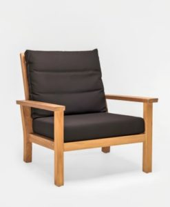 Hampton Club Chair Traditional Teak Patio Hotel Terrace Furniture