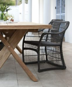 Nixon Dining Table Traditional Teak Outdoor Furniture Restaurants