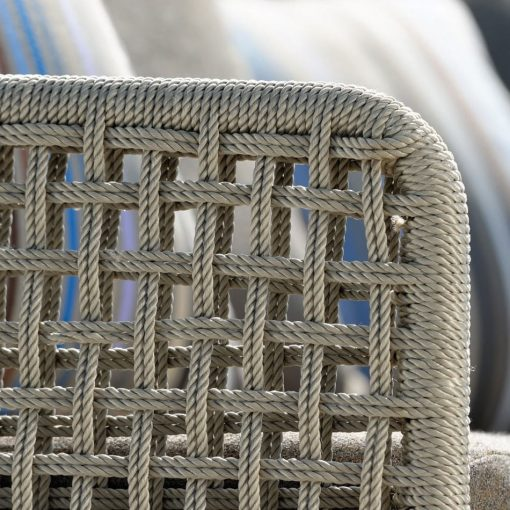 agreta club chair foot stool champagne grey contemporary outdoor furniture residential Hamptons Greenwich
