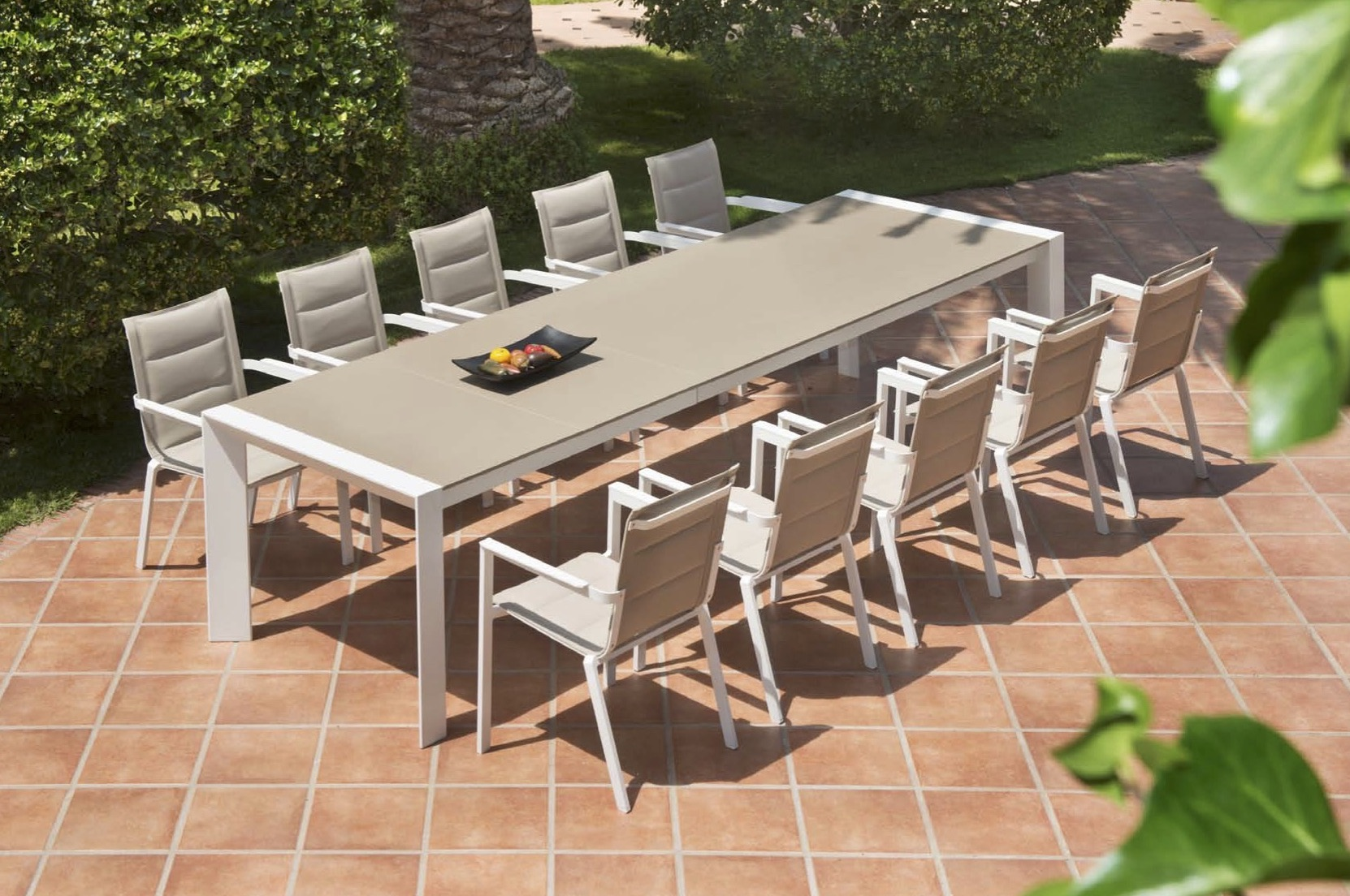 Charmant Alchemy Dining Table Modern Glass Extendable Teak All Weather Batyline  Aluminum Contract Hospitality Outdoor Furniture