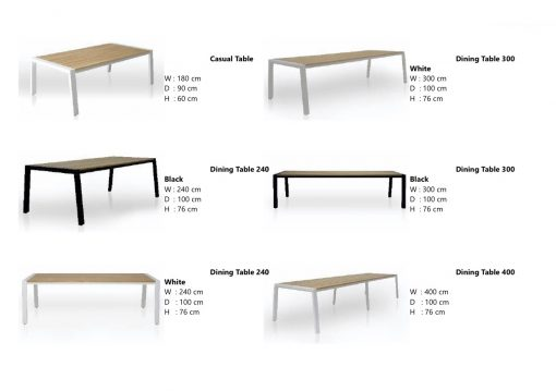 Bermuda XL large Dining Table 12 ft 14 people