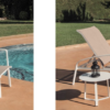 August Chaise lounger extendable chair aluminum modern contract outdoor furniture
