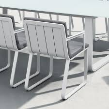 Averon contemporary modern outdoor dining chair with cushion contract hospitality hotel restuarant beach club house miami fl hamptons ny los angeles ca