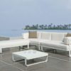 Averon contemporary modern outdoor living sectional modular white sofa contract hospitality hotel restuarant beach club house miami fl hamptons ny los angeles ca