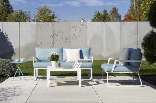 Averon modern white grey cushion outdoor sofa club lounge chair chaise 7