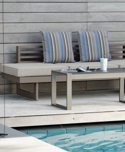 Modern Powder Coated Aluminum Multipurpose 3 Seater Sofa
