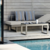 Balcony Chaise Lounger Bench Modern Fits in Tight Areas Outdoor Furniture