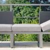 Balcony Multi-fuction Sofa Chaise Lounge Terrace Aluminum Outdoor Furniture Stock