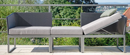 Balcony Multi-fuction Sofa Chaise Lounge Terrace Aluminum Outdoor Furniture Stock