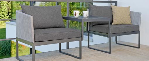 Contemporary Powder Coated Aluminum Textilene Multi Function Club Chair