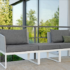Balcony Multifuctional Sofa Chaise Lounge Chair Terrace Aluminum Outdoor Furniture Stock