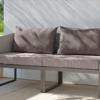 Modern Aluminum Textilene Outdoor 2 Seater Sofa
